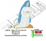 fee plans woodworking resource from WoodworkersWorkshop® Online Store - Mary,Christmas,nativity,yard art,stencils,templates,scrap wood projects,downloadable PDF,tole painting wood crafts,scrollsawing patterns,4-H Club,4H projects,scouts,girl guides,drawings,Accents In Pin