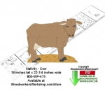 05-WP-475 - Nativity Cow Downloadable Woodcrafting Pattern PDF