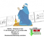 05-WP-477 - Nativity Wiseman blue robe Downloadable Woodcrafting Pattern PDF