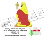 Nativity Wiseman yellow red robe Downloadable Woodcrafting Pattern