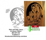Mary and Baby Jesus Downloadable Scrollsaw Woodcrafting Pattern PDF, Mary,baby Jesus,silhouettes,stencils,templates,scrap wood projects,downloadable PDF,tole painting wood crafts,scrollsawing patterns,4-H Club,4H projects,scouts,girl guides,drawings,Accents In Pine,woo
