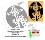fee plans woodworking resource from WoodworkersWorkshop® Online Store - crucifix,cross,Easter,flowers,lilles,lily,stencils,templates,scrap wood projects,downloadable PDF,tole painting wood crafts,scrollsawing patterns,4-H Club,4H projects,scouts,girl guides,drawings,Accen