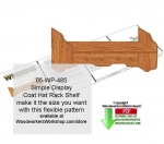 05-WP-485 - Simple Coat Rack Shelf Unit Downloadable Scrollsaw Pattern PDF