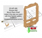 05-WP-486 - Simple Wall Mount Shelf Unit Downloadable Scrollsaw Pattern PDF