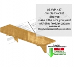 05-WP-487 - Simple Wall Mount Bracket Shelves Downloadable Scrollsaw Pattern PDF