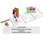 05-WP-490 - Woodpecker Door Knocker Downloadable Scrollsaw Woodcraft Pattern PDF