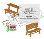 Convertible Picnic Table Bench Scrollsaw Woodcrafting Pattern