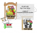 Sign Post Setup Downloadable PDF - fee plans from WoodworkersWorkshop® Online Store - sign posts,yard,garden,signs,stencils,templates,scrap wood projects,downloadable PDF,tole painting wood crafts,scrollsawing patterns,4-H Club,4H projects,scouts,girl guides,drawings,Accents In Pine,wo