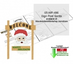Sign Post Santa Downloadable