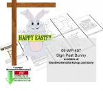 Sign Post Bunny Downloadable Woodcrafting PDF - fee plans from WoodworkersWorkshop® Online Store - happy easter bunny,bunnies,Christmas,sign posts,yard,garden,signs,stencils,templates,scrap wood projects,downloadable PDF,tole painting wood crafts,scrollsawing patterns,4-H Club,4H projects,scouts,gi
