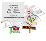 05-WP-498 - Easter Bunny Welcome Yard Poke Downloadable Woodcrafting Pattern PDF