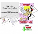 Happy Valentines Day Downloadable Scrollsaw Woodcrafting Pattern PDF, cupid,valentines day,stencils,templates,scrap wood projects,downloadable PDF,tole painting wood crafts,scrollsawing patterns,4-H Club,4H projects,scouts,girl guides,drawings,Accents In Pine,woodworkin