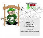 05-WP-501 - Sign Post St Patricks Day Downloadable Woodcrafting Pattern PDF