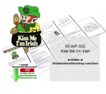05-WP-502 - Kiss Me I Am Irish Downloadable Scrollsaw Woodcrafting Pattern PDF