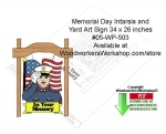 Memorial Day Intarsia and Yard Art Sign Downloadable
