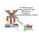 05-WP-504 - God Bless the USA Intarsia and Yard Art Sign Woodcrafting Pattern PDF