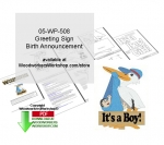 05-WP-508 - Birth Announcement Greeting Sign Downloadable Woodcrafting Pattern PDF