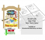 05-WP-509 - New Years Baby Downloadable Scrollsaw Woodcrafting Pattern PDF