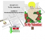 05-WP-511 - To My Valentine Downloadable Scrollsaw Woodcrafting Pattern PDF