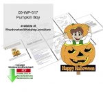 05-WP-517 - Pumpkin Boy Downloadable Yard Art Woodcrafting Pattern PDF