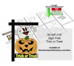Trick or Treat Sign Downloadable Scrollsaw Woodcrafting Pattern