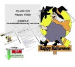 Happy Witch Downloadable Yard Art Woodcrafting Pattern
