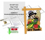 05-WP-522 - Give Thanks Downloadable Scrollsaw Woodcrafting Pattern PDF