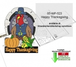 05-WP-523 - Happy Thanksgiving Downloadable Yard Art Woodcrafting Pattern PDF