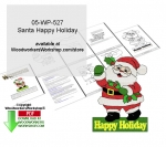 05-WP-527 - Santa Happy Holidays Yard Art Woodcrafting Pattern Downloadable PDF