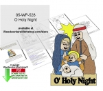 O Holy Night Yard Art Woodcrafting Pattern Downloadable