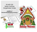 Santa Climbing Gingerbread House Yard Art Pattern Downloadable