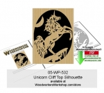 05-WP-532 - Unicorn Cliff Top Downloadable Scrollsaw Woodcrafting Pattern PDF