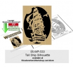 Tall Ship Silhouette Downloadable Scrollsaw Pattern