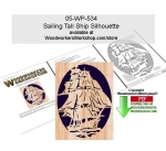 Sailing Tall Ship Silhouette Downloadable Scrollsaw Pattern