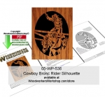 05-WP-536 - Cowboy Bronc Rider Downloadable Scrollsaw Woodcrafting Pattern PDF