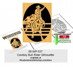 05-WP-537 - Cowboy Bull Rider Downloadable Scrollsawing Woodcraft Pattern PDF