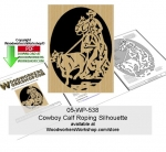 05-WP-538 - Cowboy Calf Roping Downloadable Scrollsawing Woodcraft Pattern PDF