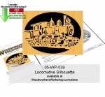 05-WP-539 - Locomotive Silhouette Downloadable Scrollsawing Woodcraft Pattern PDF