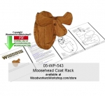 Moosehead Coat Rack Downloadable Scrollsawing Woodcraft Pattern PDF woodworking plan