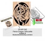 Fierce Dragon Scrollsawing Woodcraft Pattern