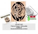 Fierce Dragon Scrollsawing Woodcraft Pattern
