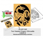 2 Headed Dragon Scrollsawing Woodcraft Pattern