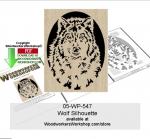 05-WP-547 - Wolf Silhouette Downloadable Scrollsawing Woodcraft Pattern PDF