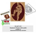 Baseball Pitcher Silhouette Downloadable Scrollsaw Pattern