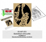 Basketball Silhouette Downloadable Scrollsawing Woodcraft Pattern