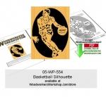 Basketball Silhouette Downloadable Scrollsawing Woodcraft Pattern