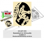 Basketball Air Silhouette Downloadable Scrollsaw Woodcraft Pattern