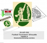Football Touchdown Silhouette Downloadable Scrollsawing Pattern