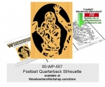 Football Quarterback Silhouette Downloadable Scrollsawing Pattern
