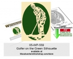 05-WP-559 - Golfer on the Green Silhouette Downloadable Scrollsawing Pattern PDF